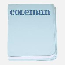 Coleman Blue Glass baby blanket