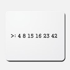 LOST numbers Mousepad