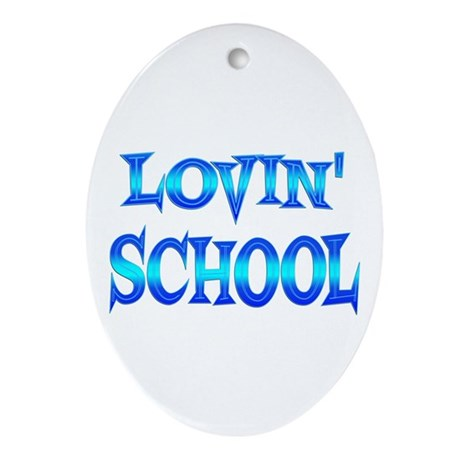 School Love Ornament (Oval)