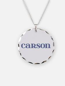 Carson Blue Glass Necklace