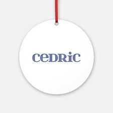 Cedric Blue Glass Round Ornament