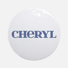 Cheryl Blue Glass Round Ornament