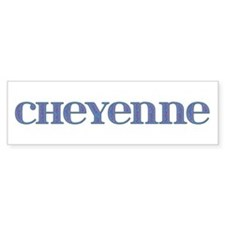 Cheyenne Blue Glass Bumper Bumper Sticker