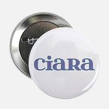 Ciara Blue Glass Button