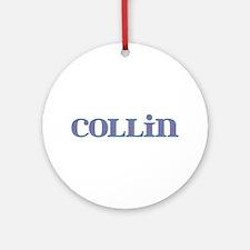 Collin Blue Glass Round Ornament