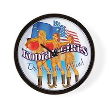 Kodiak Girls Do It in the Rai Wall Clock