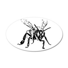 Honey Bee 22x14 Oval Wall Peel