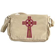 Pink Celtic Cross Messenger Bag