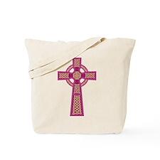 Pink Celtic Cross Tote Bag