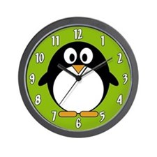 Cute Cartoon Penguin Wall Clock