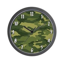 Military Camo Pattern Wall Clock
