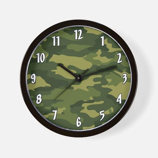 Military Camo Pattern Wall Clock