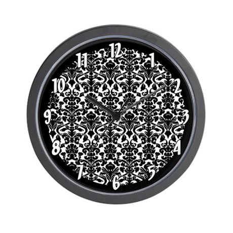 Designer Damask Pattern Wall Clock