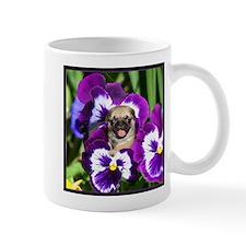 Pug in Pansies Mug