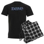Dave Blue Glass Men's Dark Pajamas