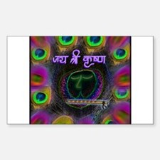 Krishna The Enchanter Sticker (Rectangle)