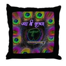 Krishna The Enchanter Throw Pillow