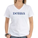 Debra Blue Glass Women's V-Neck T-Shirt