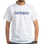 Debra Blue Glass White T-Shirt