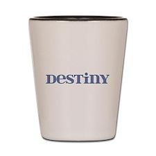 Destiny Blue Glass Shot Glass