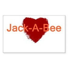 Heart Jack-A-Bee Decal