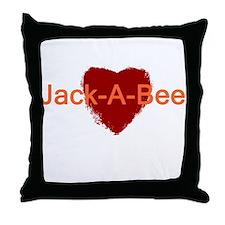 Heart Jack-A-Bee Throw Pillow
