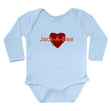 Heart Jack-A-Bee Long Sleeve Infant Bodysuit