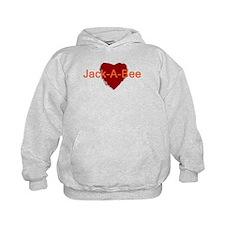 Heart Jack-A-Bee Hoodie