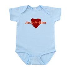 Heart Jack-A-Bee Infant Bodysuit