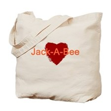 Heart Jack-A-Bee Tote Bag