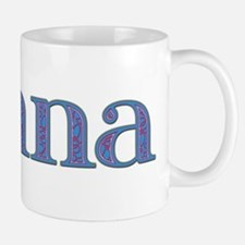 Donna Blue Glass Mug