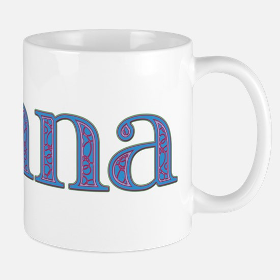 Donna Blue Glass Mug