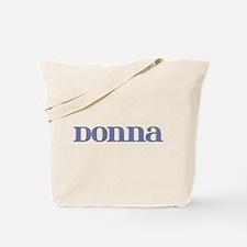 Donna Blue Glass Tote Bag