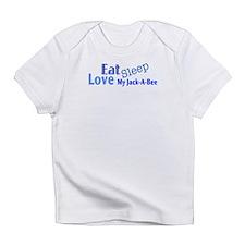 Eat Sleep Love My Jack-A-Bee Infant T-Shirt