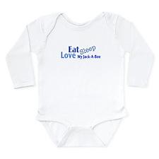 Eat Sleep Love My Jack-A-Bee Long Sleeve Infant Bo