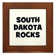 SOUTH DAKOTA  ROCKS Framed Tile