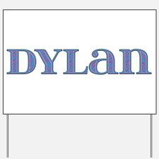 Dylan Blue Glass Yard Sign