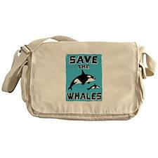 Save the Whales Messenger Bag