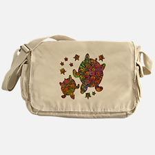 Sea Turtle Family Messenger Bag