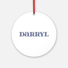 Darryl Blue Glass Round Ornament
