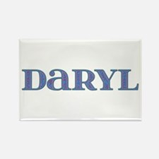 Daryl Blue Glass Rectangle Magnet