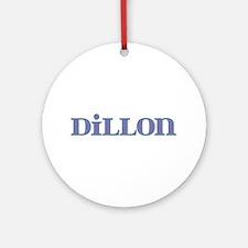 Dillon Blue Glass Round Ornament