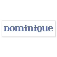Dominique Blue Glass Bumper Bumper Sticker