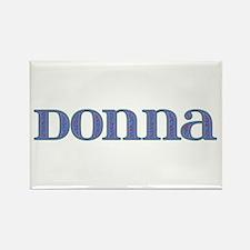 Donna Blue Glass Rectangle Magnet