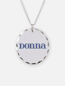 Donna Blue Glass Necklace