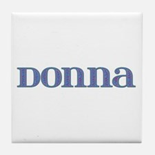 Donna Blue Glass Tile Coaster