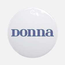 Donna Blue Glass Round Ornament