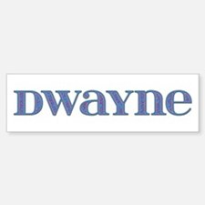 Dwayne Blue Glass Bumper Bumper Bumper Sticker