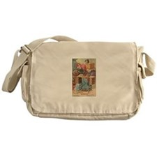 Vintage Sewing Machine Ad Messenger Bag