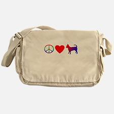 Peace, Love, Chihuahua Messenger Bag